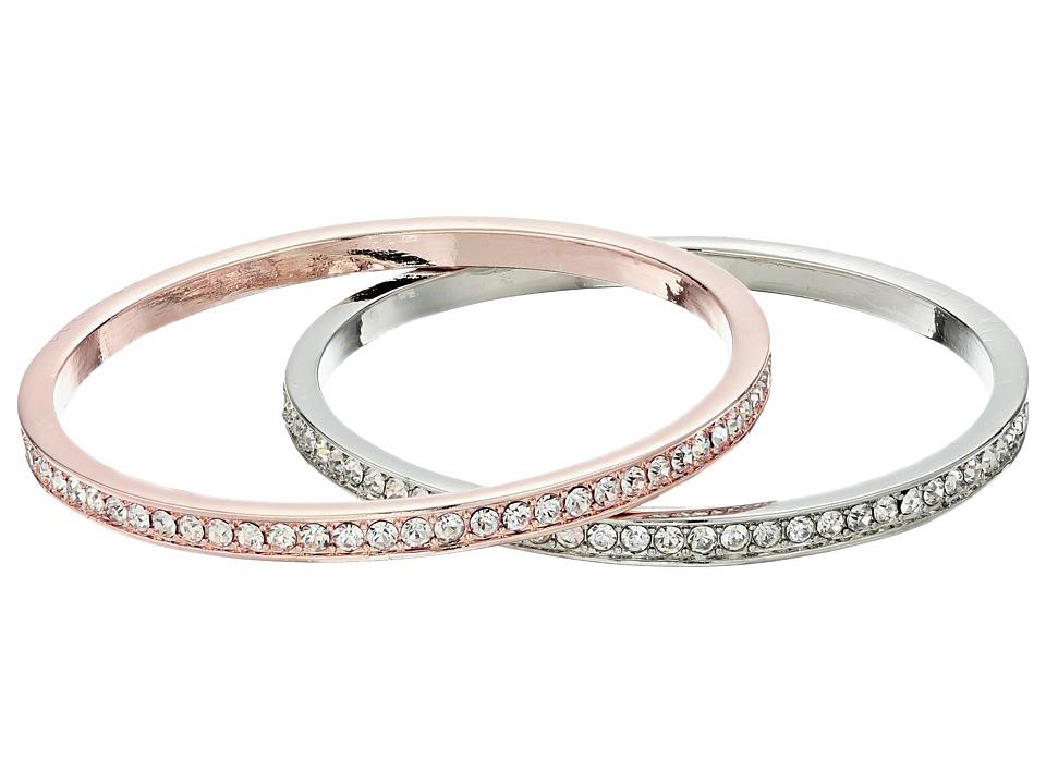 GUESS - Pave Bangle Duo Set (Silver/Rose Gold/Crystal) Bracelet