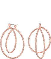 GUESS - Small Textured Orbital Hoop Earrings