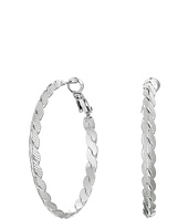 GUESS - Medium Braided Clutchless Hoop Earrings