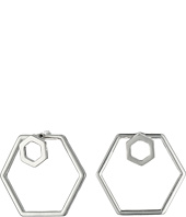 GUESS - Hexagon Trio Set Including A Front To Back Hex Hoop Earrings