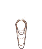 GUESS - 6 Strand Mixed Metal Necklace