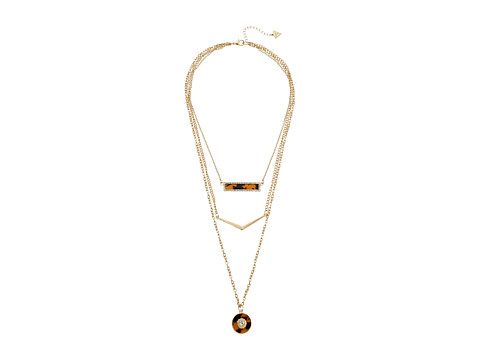GUESS Neck Trio with Bar, Chevron and Disc Necks Necklace