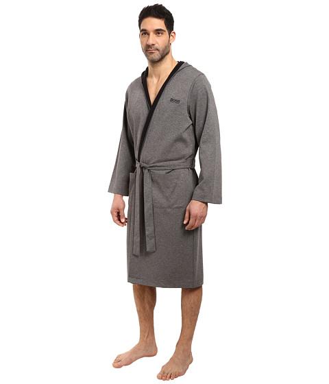 Boss hugo boss double face hooded robe for Robe de mariage hugo boss