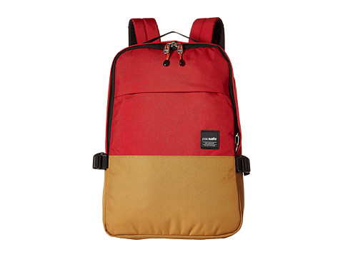 Pacsafe Slingsafe LX350 Anti-Theft Compact Backpack w/ Dectachable Crossbody - Chili