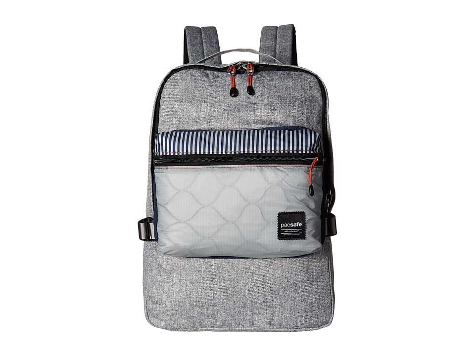 Pacsafe - Slingsafe LX350 Anti-Theft Compact Backpack w/ Dectachable Crossbody (Tweed Grey) Backpack Bags