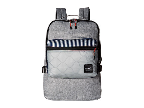 Pacsafe Slingsafe LX350 Anti-Theft Compact Backpack w/ Dectachable Crossbody - Tweed Grey