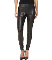 HUE - Paneled Leatherette Leggings