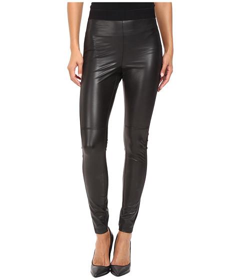 HUE Paneled Leatherette Leggings