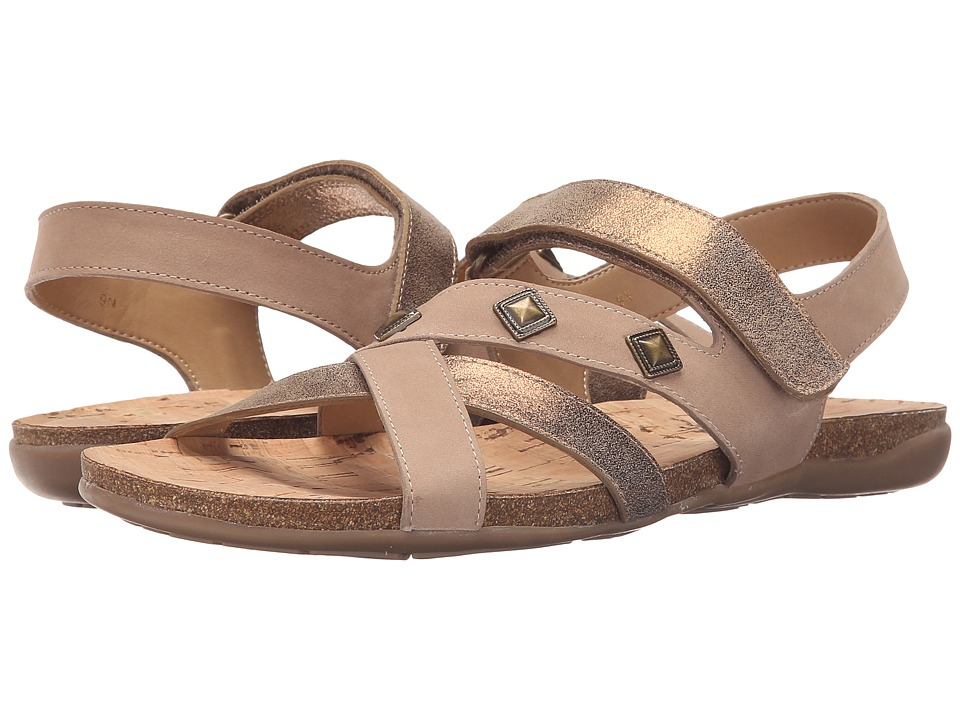 Vaneli Barry Bronze Cipria/Taupe Soft Nabuk Womens Sandals