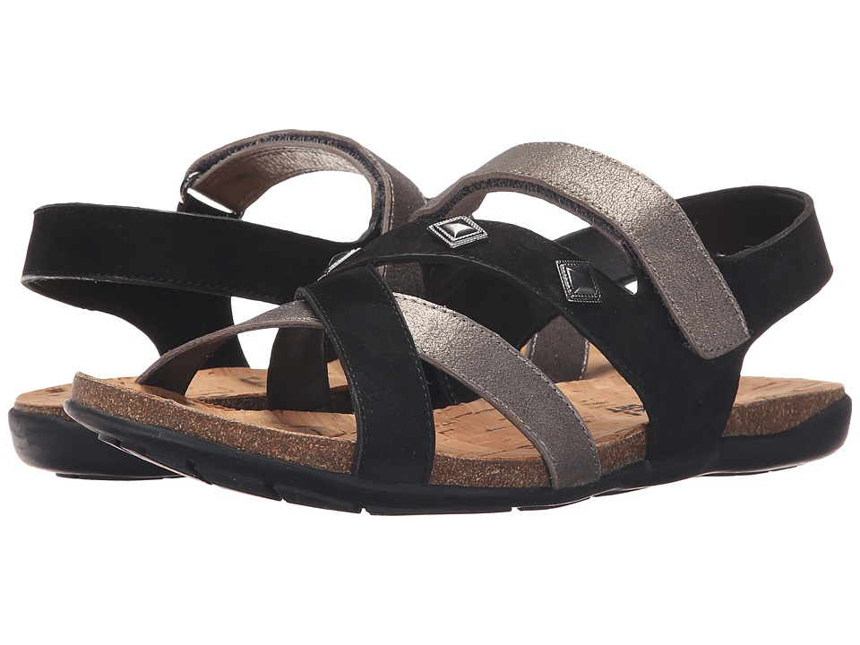 Vaneli Barry Pewter Cipria/Black Soft Nabuk Womens Sandals