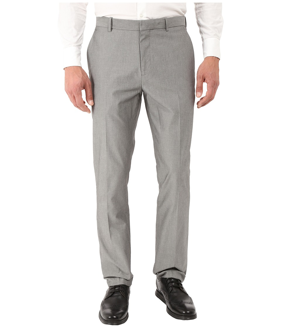 Perry Ellis Slim Fit Chambray Suit Pant Alloy Mens Casual Pants