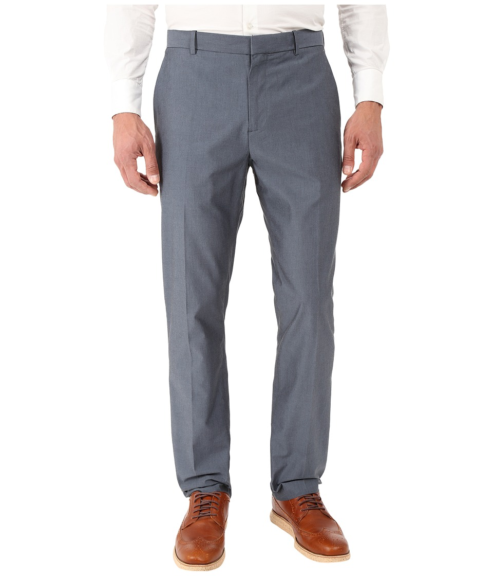 Perry Ellis Slim Fit Chambray Suit Pant Navy Mens Casual Pants