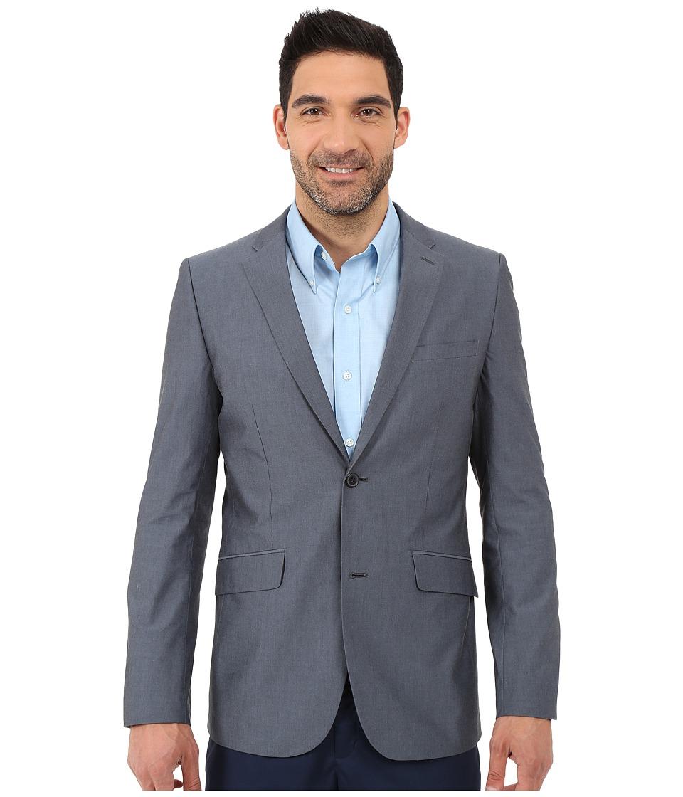 Perry Ellis Slim Fit Chambray Suit Jacket Navy Mens Coat