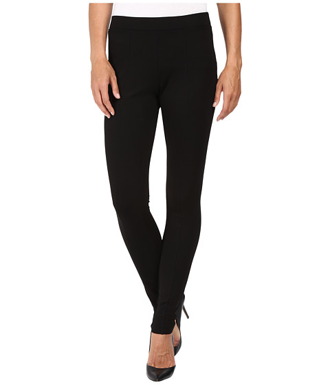 HUE Fleece Lined Ponte Leggings - Black