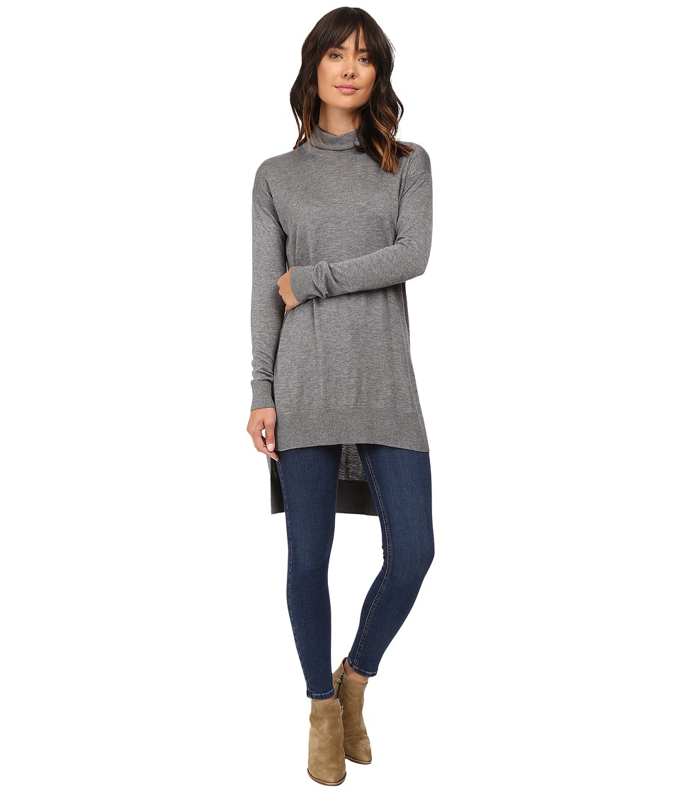 Splendid - Cashmere Blend Turtleneck Tunic (Heather Cinder) Women's Sweater