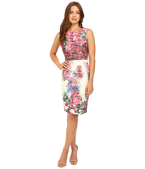 Badgley Mischka Floral Neoprene Dress