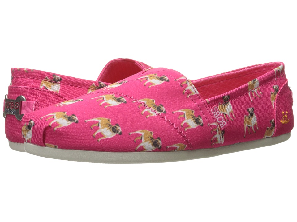 BOBS from SKECHERS - Bobs Plush - Pup Smarts (Hot Pink 1) Women