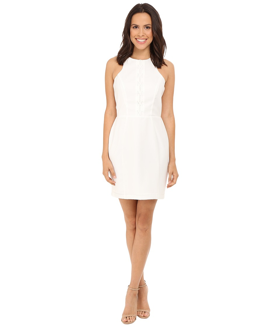 Adelyn Rae Fitted Tie Up Dress White Womens Dress