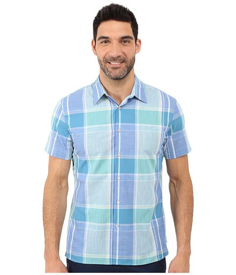 Perry Ellis Large Chambray Plaid Shirt