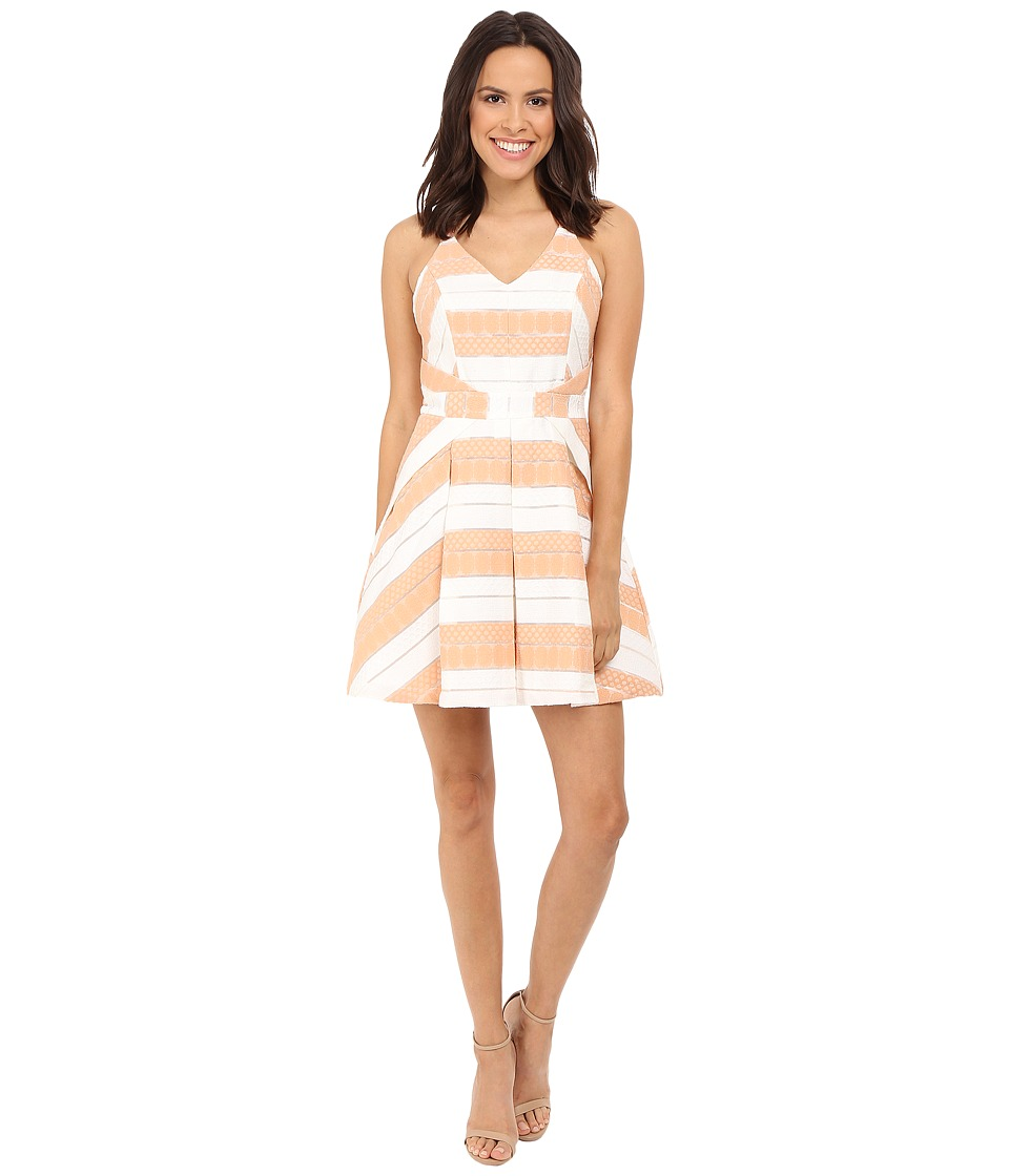 Adelyn Rae Lace Fit and Flare Dress White/Nude Womens Dress