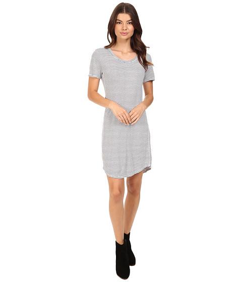 Splendid Codette Mini Rib T-Shirt Dress - White