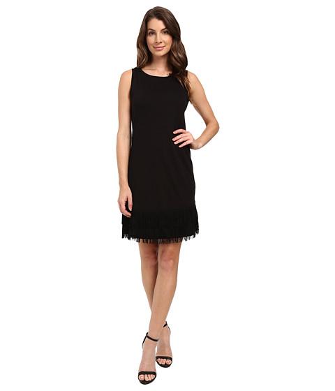 Splendid - Fringe Dress (Black) Women's Dress