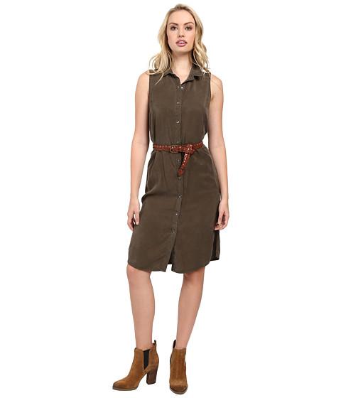 Splendid - Wilder Tencel Dress (Military Olive) Women's Dress