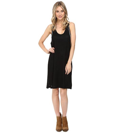 Splendid - Bardane Looseknit with Drapey Lux Layered Dress (Black/Black) Women's Dress