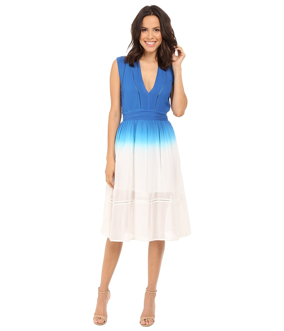 Adelyn Rae Dip Dye Dress Blue/White Womens Dress