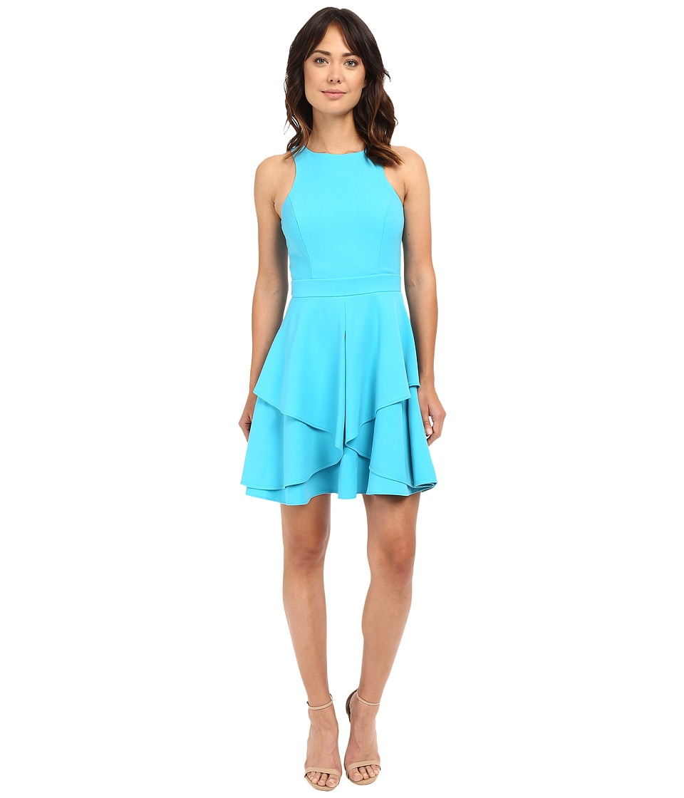 Adelyn Rae Fit and Flare Dress Light Blue Womens Dress