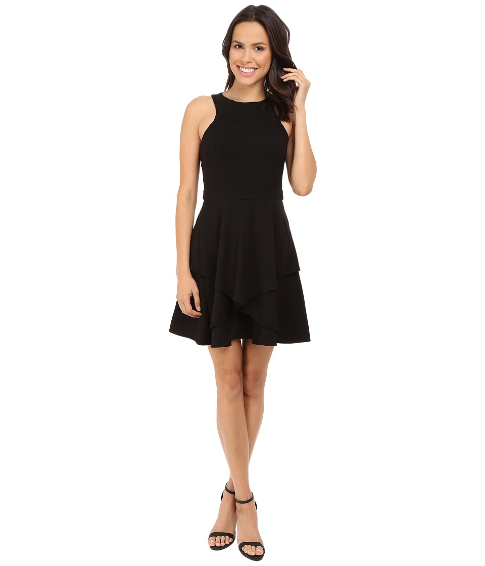 Adelyn Rae Fit and Flare Dress Black Womens Dress