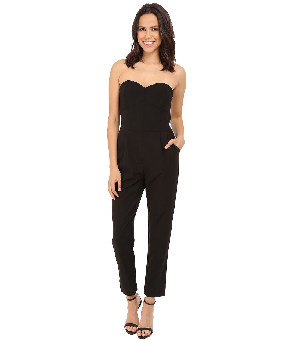 Adelyn Rae Strapless Jumpsuit Black Womens Jumpsuit Rompers One Piece