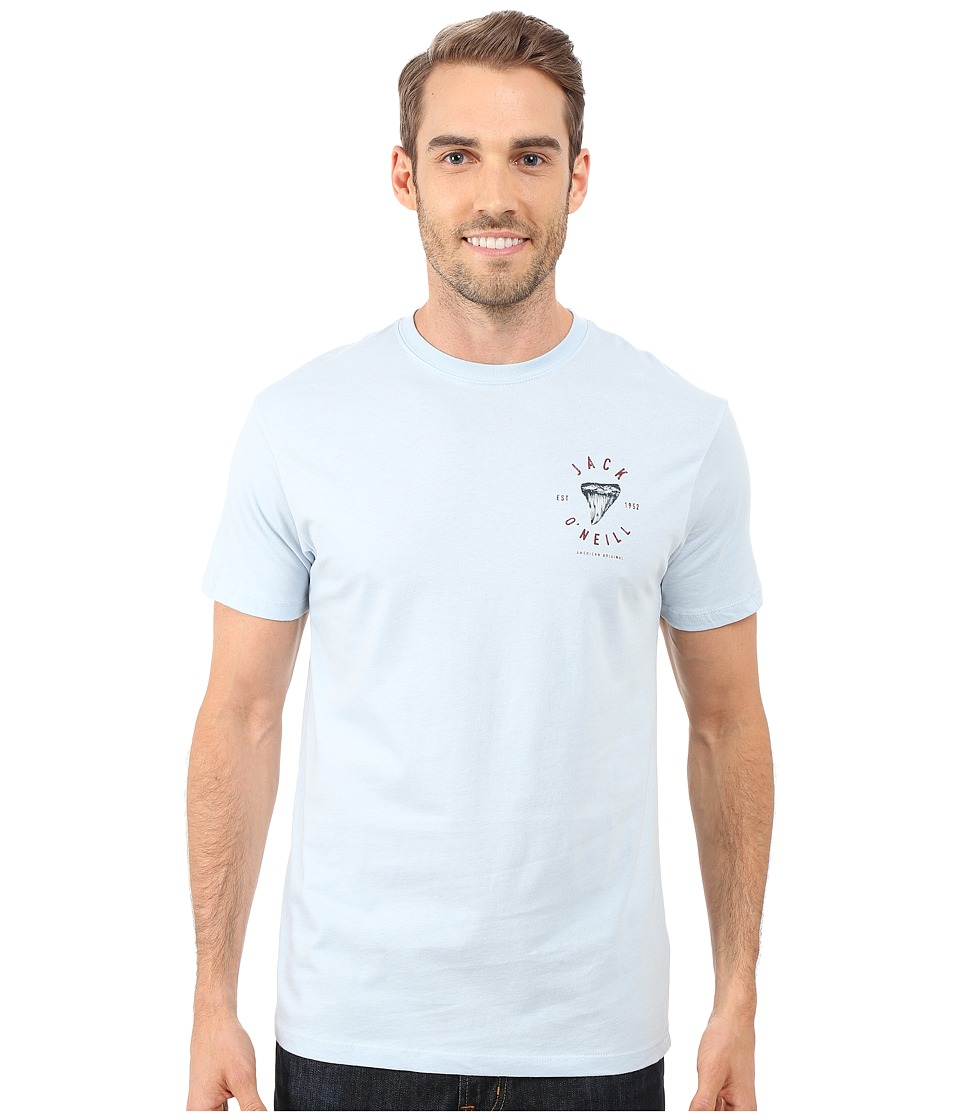 Jack ONeill Big Bite Short Sleeve Screen Tee Light Blue Mens T Shirt