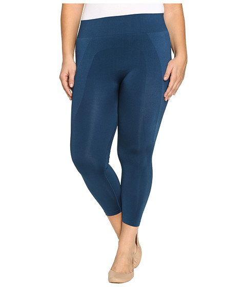 HUE Plus Size Seamless Shaping Capris - Insignia Blue