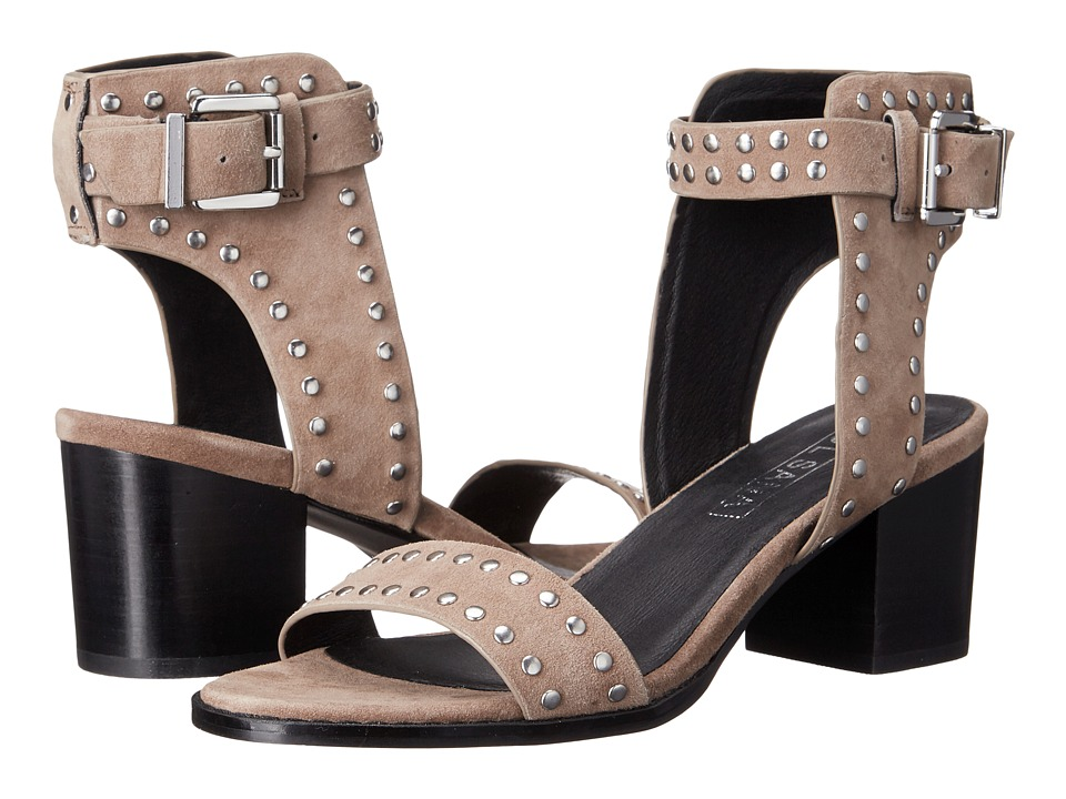 Sol Sana Porter Heel Studded Taupe Suede High Heels