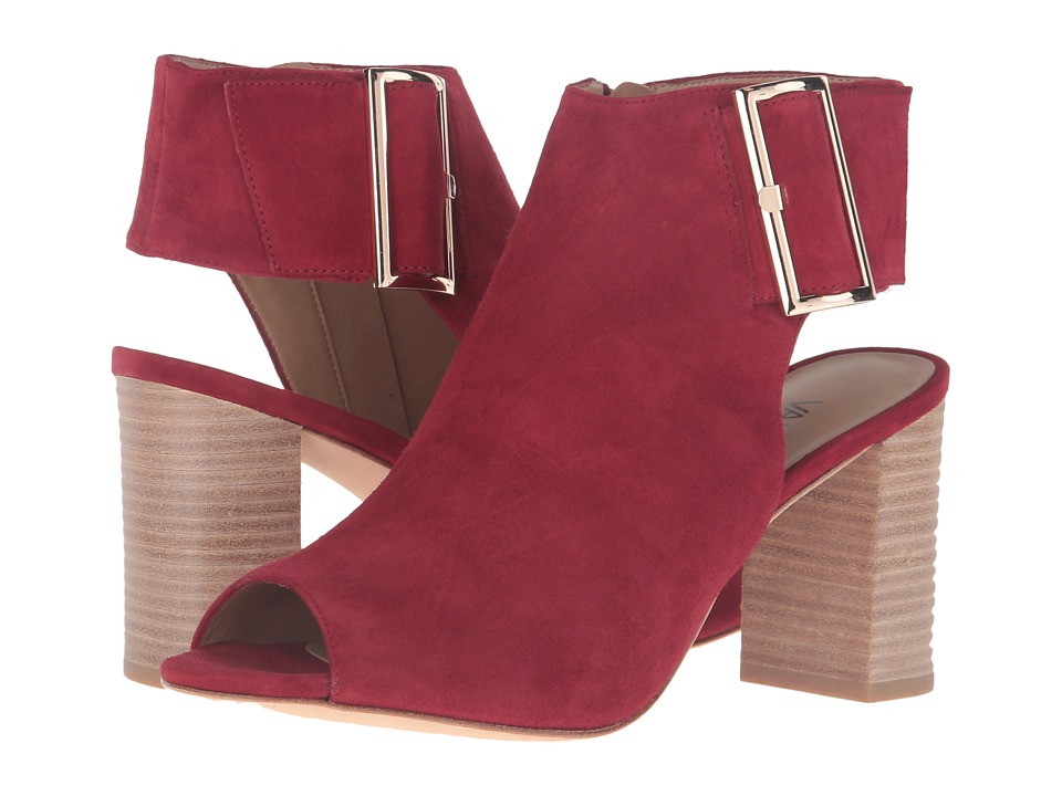 Vaneli Bisa (Red Suede/Gold Buckle) High Heels