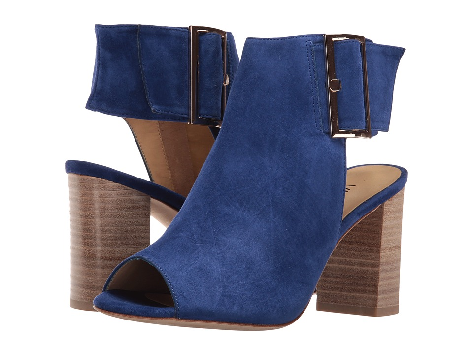 Vaneli Bisa (French Blue Suede/Gold Buckle) High Heels