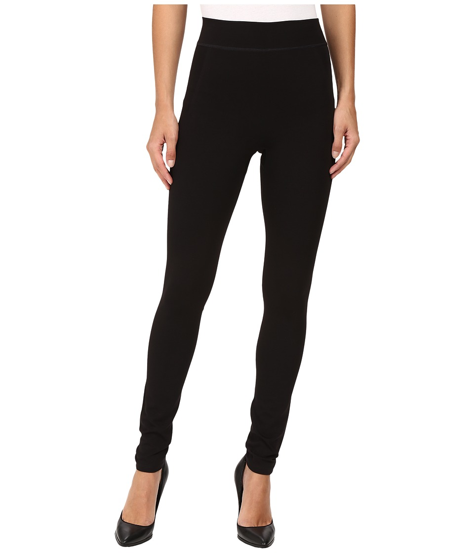 HUE - Double Knit Shaping Leggings (Black) Womens Casual Pants