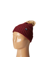 Tommy Hilfiger - Ribbed Cuff Hat with Faux Fur Pom