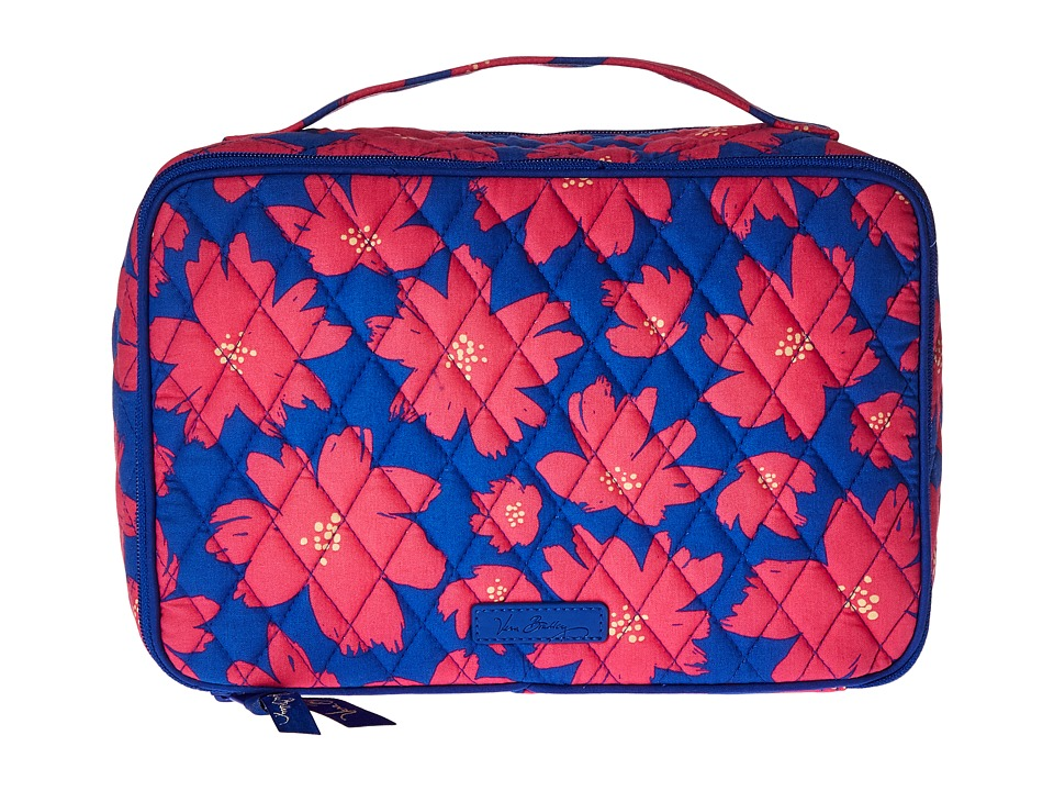 Vera Bradley Luggage - Large Blush Brush Makeup Case (Art Poppies) Cosmetic Case