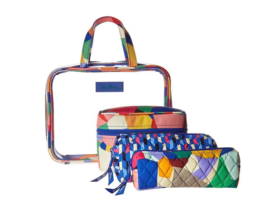 Vera Bradley Luggage - Four-Piece Cosmetic Organizer (Pop Art) Cosmetic Case