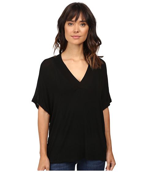 Splendid - Drapey Lux Poncho (Black) Women's Clothing