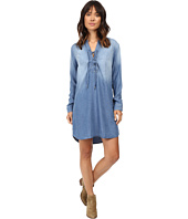 Splendid - Adelise Indigo Lace-Up Shirtdress