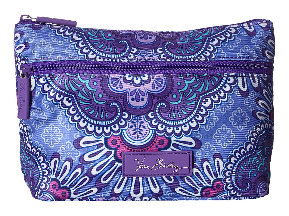 Vera Bradley Luggage Lighten Up Travel Cosmetic (Lilac Tapestry) Cosmetic Case