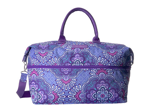 Vera Bradley Luggage Lighten Up Expandable Travel Bag - Lilac Tapestry
