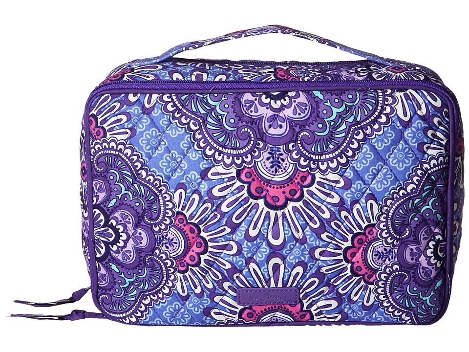 Vera Bradley Luggage Large Blush Brush Makeup Case (Lilac Tapestry) Cosmetic Case