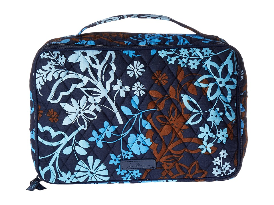 Vera Bradley Luggage Large Blush Brush Makeup Case (Java Floral) Cosmetic Case