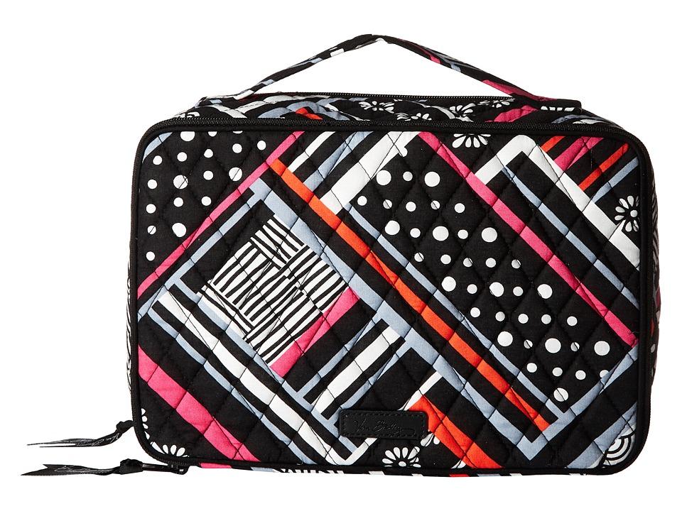 Vera Bradley Luggage Large Blush Brush Makeup Case (Northern Stripes) Cosmetic Case