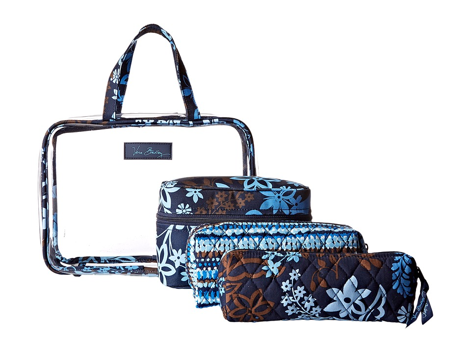 Vera Bradley Luggage Four-Piece Cosmetic Organizer (Java Floral) Cosmetic Case