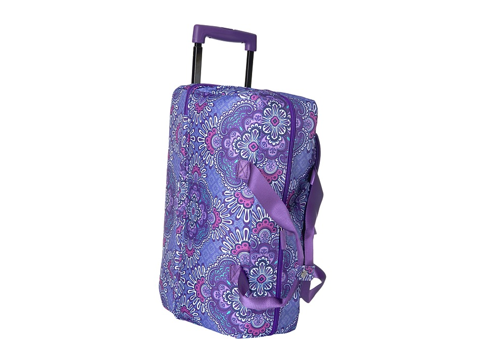 Vera Bradley Luggage - Lighten Up Wheeled Carry-on (Lilac Tapestry) Carry on Luggage